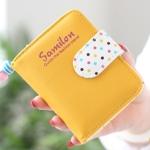กระเป๋าสตางค์ผู้หญิง cute bag สี yellow (Short)