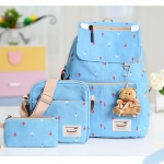 Girl's youth style backpack เซ็ต 3 ชิ้น แถมฟรีพวงกุญแจ