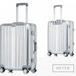 กระเป๋าเดินทางล้อลาก Hefty Hard Suitcase สี Silver