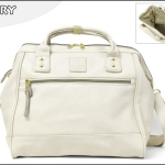 Large twoway Anello leather Shoulder Bag (สี white)