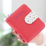 กระเป๋าสตางค์ผู้หญิง cute bag สี red (Short)