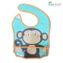 เกรซคิดส์ผ้ายางกันเปื้อนรุ่นมีที่รองอาหาร ลายลิงน้อย ยกลัง(6 ชิ้น)