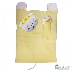 ชุดปิกนิกลายแกะ สีเหลือง ยกลัง(2 ชิ้น)