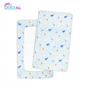 เกรซคิดส์ปลอกที่นอนไซด์M Pooh Lets Fly a kite(blue)(24*40*2.5)