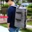 กระเป๋าเป้ Canvas IOZO 3 in 1 Extra USB (สีเทา) thumbnail 1