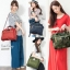 Large Anello Shoulder Boston Bag (ลายทหาร) thumbnail 5