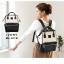กระเป๋าเป้ Anello Leather Ivory black (Standard) หนัง PU กันน้ำ thumbnail 2