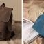 กระเป๋าเป้ Canvas vintage คุณภาพดี (สีน้ำตาลอ่อน) thumbnail 5