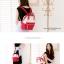 กระเป๋าเป้ Anello Cotton Red (Standard) ผ้าคอตตอน สีทูโทน ขาวแดง thumbnail 5