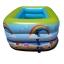 สระน้ำเด็กเป่าลม ขนาดกลาง 130cm ขอบ 3 ชั้น สีเขียวอ่อน ลายหนูน้อยบนหาดทราย (แถมฟรี ห่วงยางคอเด็ก) thumbnail 3