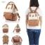 กระเป๋าเป้ Anello Leather Ivory Pink (Standard) หนัง PU กันน้ำ thumbnail 6