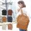 กระเป๋าเป้ Anello Leather Camel beige (Standard) หนัง PU กันน้ำ thumbnail 6