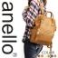 กระเป๋าเป้ Anello Leather Camel beige (Standard) หนัง PU กันน้ำ thumbnail 5