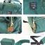 New!! กระเป๋าเป้ Anello dark green (Standard) เขียวเข้ม ผ้าแคนวาส thumbnail 4
