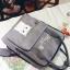 กระเป๋าเป้ Japan chic (กระเป๋าเป้สไตล์ญี่ปุ่น) สีเทา thumbnail 5