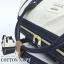 กระเป๋าเป้ Anello Cotton Navy (Standard) ผ้าคอตตอน สีทูโทน ขาวกรมท่า thumbnail 9