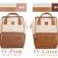 กระเป๋าเป้ Anello Leather Ivory Pink (Standard) หนัง PU กันน้ำ thumbnail 5