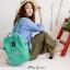 New!! กระเป๋าเป้ Anello Emerald green (Standard) เขียวมรกต ผ้าแคนวาส thumbnail 1