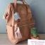 กระเป๋าเป้ Anello Leather Pink (Standard) หนัง PU กันน้ำ thumbnail 2