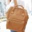 กระเป๋าเป้ Anello Leather Camel beige (Standard) หนัง PU กันน้ำ thumbnail 4
