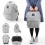 New!! กระเป๋าเป้ Anello Light Gray (Standard) สีเทาสว่าง ผ้าแคนวาส thumbnail 6