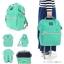 New!! กระเป๋าเป้ Anello Emerald green (Standard) เขียวมรกต ผ้าแคนวาส thumbnail 3