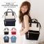 กระเป๋าเป้ Anello Cotton Black (Standard) ผ้าคอตตอน สีทูโทน ขาวดำ thumbnail 7