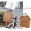 กระเป๋าเป้ Anello Leather Camel beige (Standard) หนัง PU กันน้ำ thumbnail 9