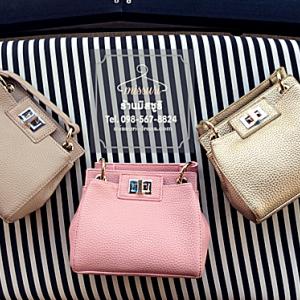 กระเป๋าออกงานราตรี งานแต่งงาน งานปาร์ตี้ งานต่างๆ กระเป๋าหนัง Mini Bag จะถือ หรือจะสะพายไหล่ ก็เรียบง่าย สวยสะดุดตา