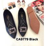 รองเท้าคัทชู ส้นแบน แต่งอะไหล่เพชรสวยหรู ทรงสวย หนังนิ่ม ใส่สบาย แมทสวยได้ทุกชุด (CA9779)