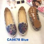 รองเท้าคัทชู ส้นแบน แต่งฉลุลายดอกไม้ สีไล่โทนสวยน่ารัก ทรงสวย หนังนิ่ม ใส่สบาย แมทสวยได้ทุกชุด (CA9678)