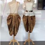 ชุดไทย ชุดไทยเพื่อนเจ้าสาว ชุดไทยออกงาน ชุดไทยประยุกต์ โจงกะเบน สำเร็จลายไทย คู่กับเสื้อประยุกต์