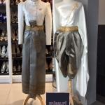 ชุดไทย ชุดไปงานแต่งงาน ชุดไทยเพื่อนเจ้าสาว ชุดไทยสไบกับโจงกะเบนประยุกต์สำเร็จรูปคัตติ้งสวยหรูหรา