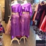 ชุดไทยไซส์ใหญ่ ชุดไทยเพื่อนเจ้าสาวไซส์ใหญ่ ชุดไทยออกงานไซส์ใหญ่ ชุดไทยประยุกต์ไซส์ใหญ่ ผ้าไหม สไบเฉียง ผ้าถุงสำเร็จลายไทย
