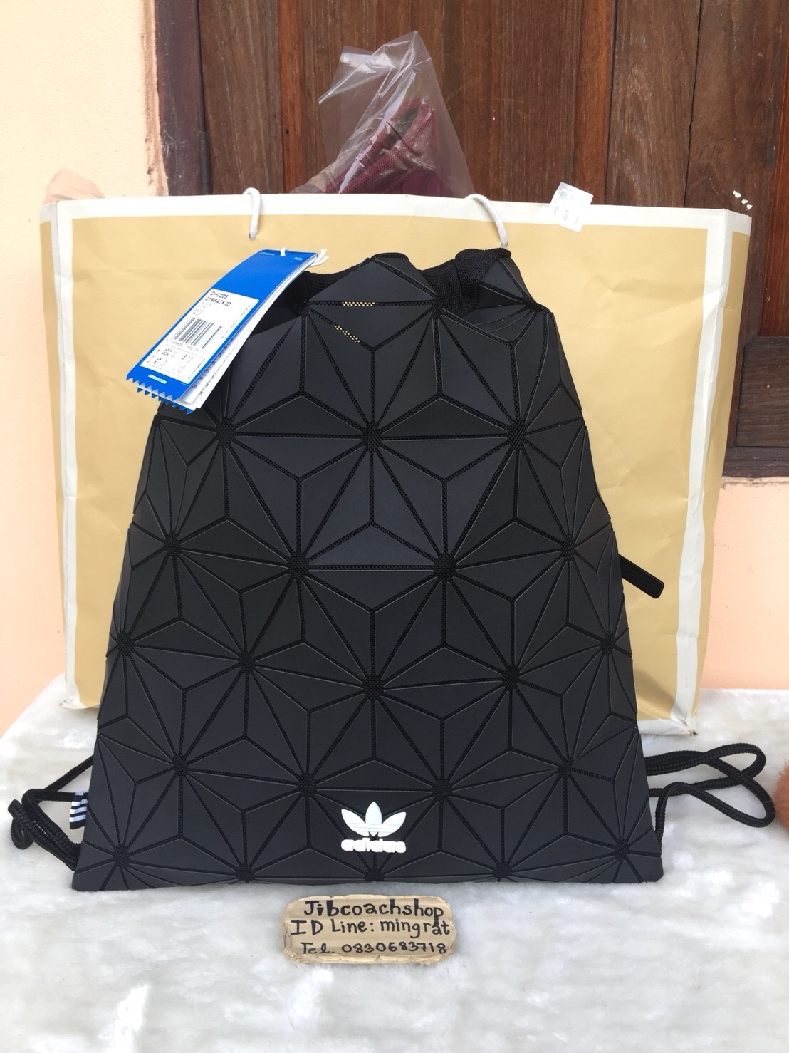 Adidas DH0209 ORIGINALS 3D GYM SACK Black