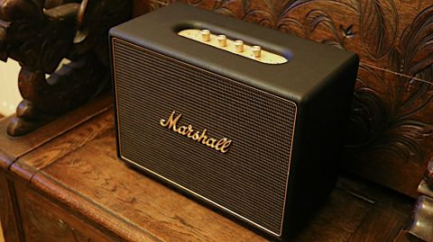 Black Marshall Acton 50W Wireless Bluetooth Home Speaker