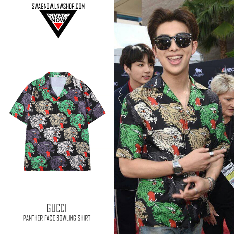 3d0426dd0 (pre-order) เสื้อเชิ้ต Gucci Panther Face Bowling Shirt (kf) BEST SELLER